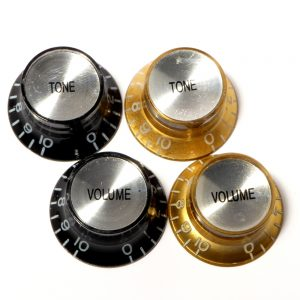 Top hat control knobs black or gold tone and volume