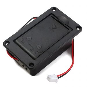 Flat mount hinge battery case