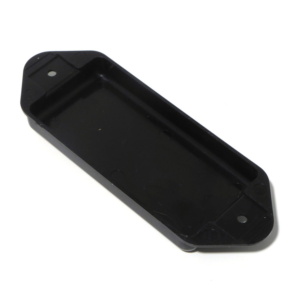 Dog ear Guitar Pickup Covers solid P90 Soapbar Black White or Ivory with lugs