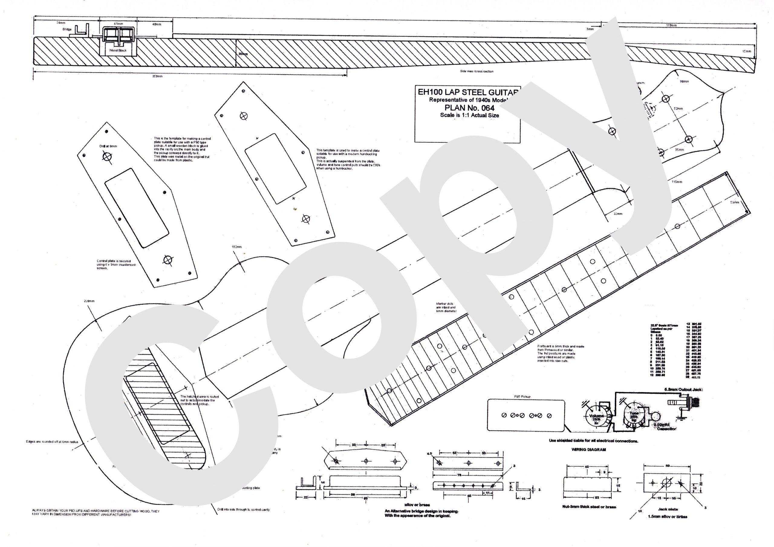 lap steel guitar wiring diagram plans to build eh100 electric lapsteel guitar  build eh100 electric lapsteel guitar