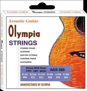 Olympia Super Light Acoustic Guitar Strings