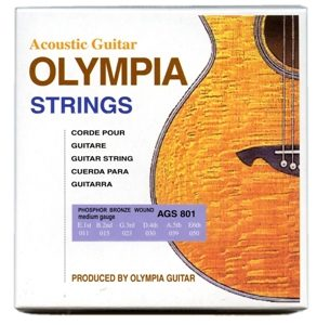Olympia Phosphor Bronze Custom Light Gauge Acoustic Guitar Strings