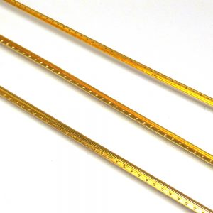 Length of Straight Brass Fret Wire - 3 x 300 mm