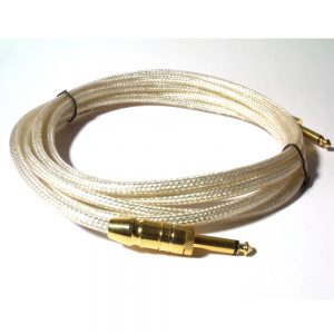 Silver Braided 10ft Reinforced Guitar Lead
